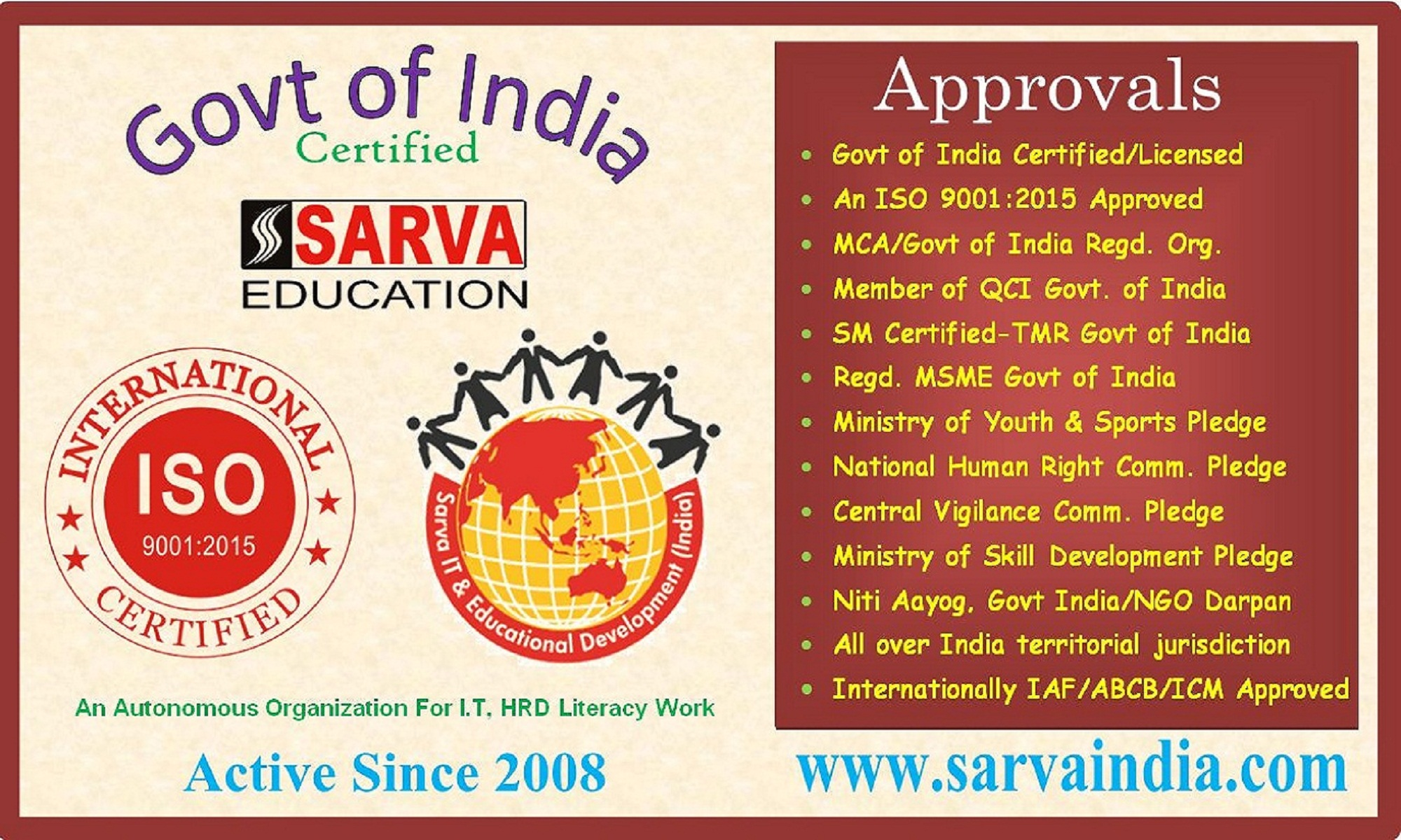 How To Register Computer Training Institute* Low Computer Education Institute Affiliation | Open Computer Training Centre | TOP Computer Center Franchise Offer | Registration Process | Recognition Procedure -SarvaEducation.In